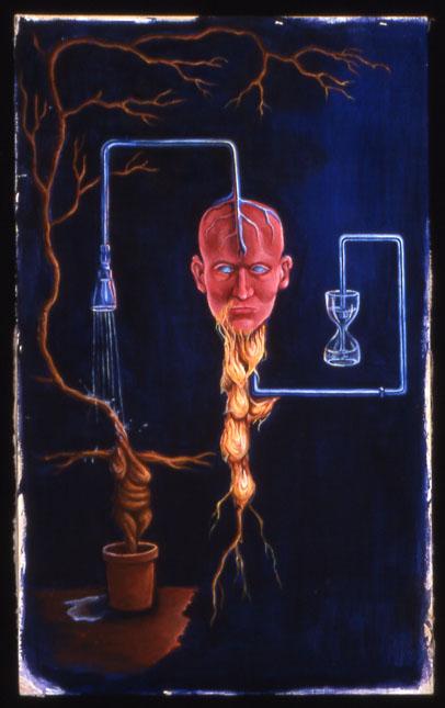 The Alchemist oil on acrylic